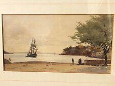 Stanley Inchbold RA NWS RSBA ( 1856 - 1921 )  watercolour painting Coastal scene