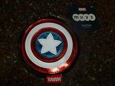 Disney Store Captain America MXYZ Coin Purse Shield, Cosmetic Bag NWT Marvel