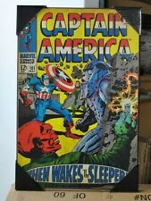 Captain America #101 Marvel Comics Silver Buffalo Wood Wall Decor / Art Avengers