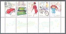 Australia-Classic Toys-3275a mnh strip-Barbie-Dragster-Pedal Car