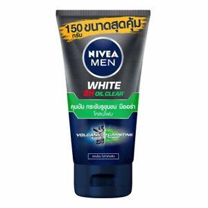 150g : Nivea Men White Oil Clear Mud Foam Facial Wash skin, acne-prone, power