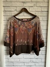 Paprika Ladies See-Through Batwing Brown Summer Top. See Photos
