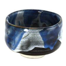 """Japanese 4.5""""D Matcha Bowl Ceramic SIRO-KON TATA Design Tea Ceremony/ Made Japan"""