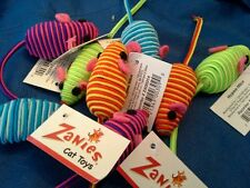Zanies Hypno Corded Mice Cat Toy with Rattle. Lot of 8.