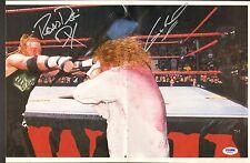 Gangrel & Road Dogg DX Signed 11x24 Magazine Centerfold Poster PSA/DNA COA WWE