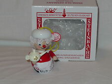 Steinbach Ornament Mrs Claus Santa's Wife with Tea Pot Handmade Germany Wooden