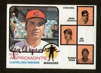 Ken Aspromonte #449 signed autograph auto 1973 Topps Baseball Trading Card