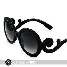Black Children Baroque Swirl Stylish Child Kids Sunglasses Free Case K005