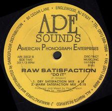 RAW SATISFACTION Do It Technique mixte Paul Simpson American Phonographe