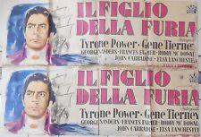 MANIFESTO MOVIE POSTER CINEMA IL FIGLIO DELLA FURIA TYRONE POWER GENE TIERNEY