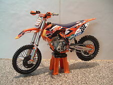 2014 Bicicleta De Motocross Modelo 1:12 Antonio Cairoli Red Bull KTM 222 SXF 350 últimos