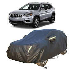 Full Suv Car Cover Outdoor Wind Waterproof Rain Uv Protection For Jeep Cherokee Fits Jeep