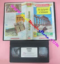 VHS film BELLEZZE D'ITALIA Da agrigento a selinunte 1995 DE AGOSTINI (F1)*no dvd