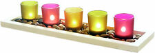 Essence Serenity 5 piece Jewel Tone Candle Set. Living dining bedroom christmas