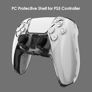 Ultra Slim Clear PC Cover Protector Case for PS5 DualSense Controller Accessory