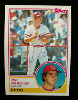 DAVE VAN GORDER 1983 TOPPS AUTOGRAPHED SIGNED AUTO BASEBALL CARD 322 REDS