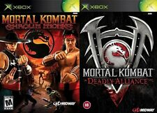 mortal kombat shaolin monks & deadly alliance     PAL ORIGINAL XBOX