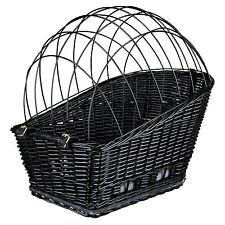 Trixie Fahrradkorb für Gepäckträger mit Gitter B35 × H49 × L55 cm, schwarz
