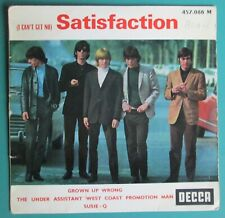 "The Rolling Stones: (I Can't Get No) Satisfaction 7"" V Rare 1965 French Repress"