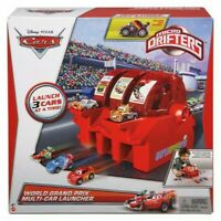Disney CARS Micro Drifters World Grand Prix Multi Car Launcher Toy MATTEL - RARE
