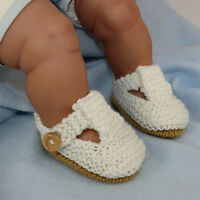 PRINTED INSTRUCTIONS - BABY SIMPLE T BAR SANDALS  BOOTEES KNITTING PATTERN