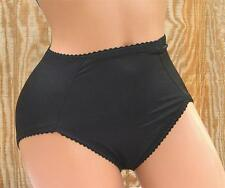 2 HANES HER WAY CONTROL PANTIES MED BLACK HIGH-CUT 0210