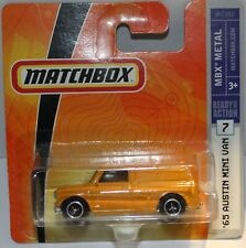 MATCHBOX 1965 AUSTIN MINI Van orange MINT Rare Carded 2007