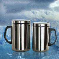 Edelstahl Isolierte Thermobecher Kaffee Wasser Teetasse Kaffeebecher 350ml/500ml