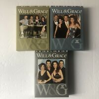Will and Grace Seasons 1, 2, and 7 DVD Box Sets EUC