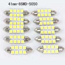 10Pcs Universal 41mm 8 SMD 5050 White Car Dome Festoon DC12V LED Light Bulbs