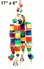 Chewy Stack pet parrot bird toy parrot cage toys cockatoo macaw african grey sen
