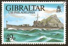 USS PHILADELPHIA CL-41 WWII Brooklyn Class Light Cruiser Warship Stamp/Gibraltar