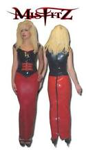 MISFITZ RED RUBBER LATEX HOBBLE SKIRT 2 WAY ZIP  SIZES 8 - 32/ MADE TO MEASURE
