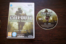 Jeu CALL OF DUTY MODERN WARFARE pour Nintendo Wii PAL SANS NOTICE (CD OK)