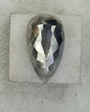 SALE ! 5.53TCW Fancy Galaxy Gray color Pear Shape Rose Cut Loose Natural Diamond