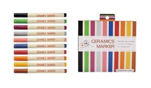 KOBARU Rakuyaki Ceramics Markers 10 Colors Pack
