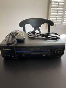 Panasonic 4 Head VCR Omnivision Model PV-V4521 & Remote & AVI Cord Works Great!