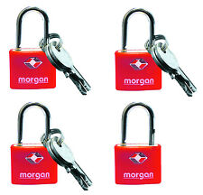 4 Pack Of Luggage Padlocks Suitcase Locks & 6 Keys 'Travel Sentry Certified'
