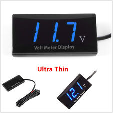 12V Ultra Thin Blue LED Display Voltage Meter Digital Voltmeter Panel Car Truck