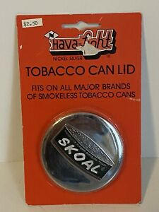 Rare Vintage Nickel Silver Skoal Snuff Can Lid - New Old Stock - Factory Sealed
