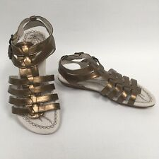 HUSH PUPPIES Calvi Bronze Metallic Gladiator Sandals Size UK 3