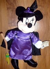 "Disney Minnie Mouse Halloween Witch 14"" Toy Factory"