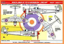 "KORA Decals 1/32 NAKAJIMA Ki-43-II HAYABUSA ""OSCAR"" Royal Thai Air Force Part 2"