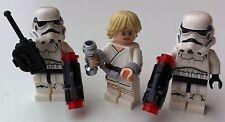 3 Lego star wars MINIFIGURES LUKE (75173) 2 STORMTROOPERS (75165) handcuffs