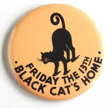 """Black Cat """"Friday the 13th"""" FRIDGE MAGNET (2.25 inches)"""