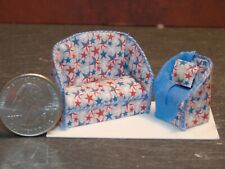 Dollhouse Miniature Sofa & Chair Stars 1:48 Quarter Scale 1/4 K30 Dollys Gallery