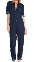 G-Star Raw Arc 3D Suit Blue Ladies Jumpsuit UK 12 M dk Aged *ref49