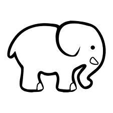 Cute Cartoon Elephant Vinyl Decal Sticker Wall Laptop iPhone Window Car Bumper