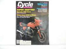Vintage Sept 1983 CYCLE Magazine Yamaha 900 Seca Moto Guzzi Honda L4417