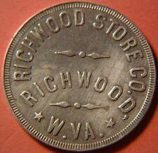 WEST VIRGINIA LUMBER & COAL 50¢ SCRIP, RICHWOOD STORE CO., RICHWOOD, W. VA.
